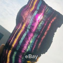 01776G Natural Rainbow Fluorite Crystal Quartz Piece Healing Specimen Stone