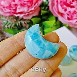 103G(11Pieces) PREMIUM GRADE LARIMAR MOON Wholesale Crystals Bulk Lot Aquamarine