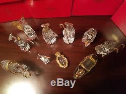10 Piece Gorham Crystal Nativity Set Donkey Camel Angels Shepherd Wise Man
