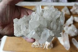 11LB 25 Pieces Natural Clear Quartz Crystal Cluster Points Whalesales Price