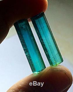 12 grams Excellent Quality facet grade vvsi indicolite color tourmaline 3 pieces