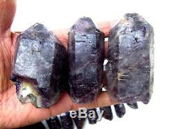 1320g (13 pieces) RARE NATURAL Amethyst quartz crystal Point Specimens