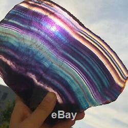 1453g Natural Rainbow Fluorite Crystal Quartz Piece Healing Specimen Stone