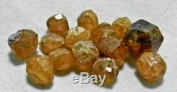 14 Pieces Loliondo Spessartite Orange GARNET 15g Lot from Tanzania, Africa 9198