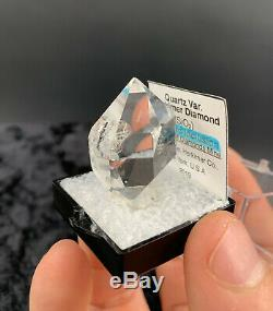 15.79 g Enhydro Herkimer Diamond Gem, Incredible Water-Clear Piece with Moving Gas