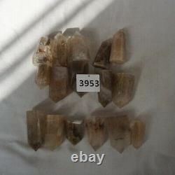 16 Pieces Natural Gold Hair Rutile Quartz Crystal Point Tower Polished Healing /