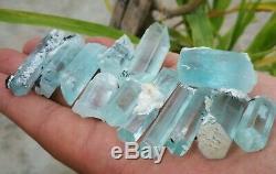 170 Grams Top Aquamarine Terminated Crystal lot 19 Pieces From Shagir, Pakistan