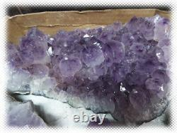 17.5 Pounds 5 Large Pieces / Retale Flat Amethyst Crystal Geode Lot