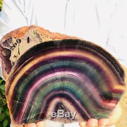1973G Natural Rainbow Fluorite Slice Crystal Quartz Piece Healing Specimen Stone