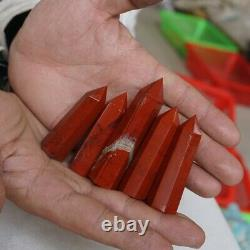 20 Pieces 2.2LB Natural Red Jasper Quartz Crystal Point Tower Polished Healing