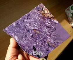 239gr. AMAZING POLISHED PIECE OF EXTRA QUALITY PARQUET CHAROITE FROM SIBERIA
