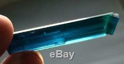 24 cts loop clean peacock indicolite color tourmaline facet grade piece