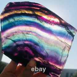 2.06LB Natural Rainbow Fluorite Crystal Quartz Piece Healing Specimen Stone