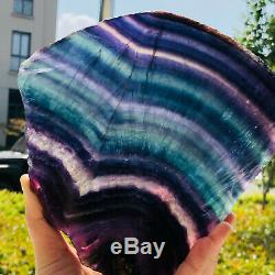2.51LB Natural Rainbow Fluorite Crystal Quartz Piece Healing Specimen Stone
