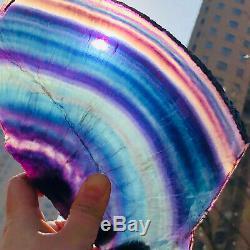 2.57LB Natural Rainbow Fluorite Crystal Quartz Piece Healing Specimen Stone13