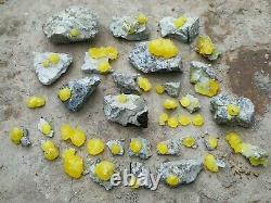 2 Kilogram Amazing Top Brucite Specimen 32 Pieces From@Balochistan, Pakistan