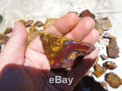 2 Kilogram Conglomerate Boulder Opal Rub Parcel 75 Pieces! Yowah Rough Lapidary