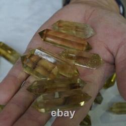 30 Pieces 2.2LB Natural Rainbow Citrine Quartz Crystal Double Point Wand Healing