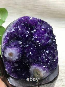3400g Natural Amethyst piece crystal quartz Uruguay Beautiful Purple +STAND