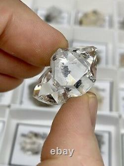 35 Piece Wholesale Flat of B-C Grade NY Herkimer Diamond Quartz Crystals