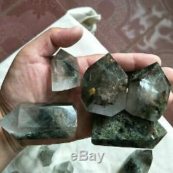 38 Pieces 2.2LB Natural Phantom Ghost Clear Quartz Crystal Points Tower Healing
