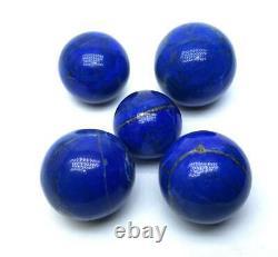 460 Grams Top A+++ Quality 100% Genuine Lapis Lazuli Sphere Balls 5 Pieces