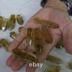 46 Pieces 2.2LB Natural Rainbow Citrine Quartz Crystal Double Point Wand Healing