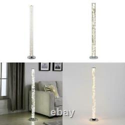 49 In. Clear 12 Volt 360 Pieces Exposed Rope Led Minari Column Floor Lamp