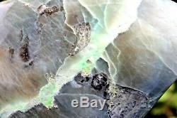 4 Green Moonstone Feldspar + Garnet Very Large Display Piece Home Decor 7.9KG