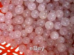 500 Pieces (11.7lb) NATURAL rose quartz crystal sphere ball healing