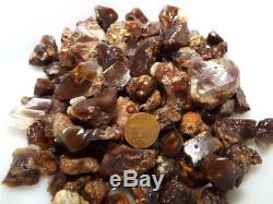 50 Piece Lot Windowed Mexican Fire Agate All With Color