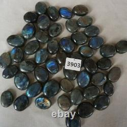 50 Pieces Natural Rainbow Labradorite Crystal Gem Spectrolite Palm Stone Healing
