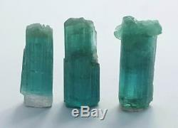 53 cts paraiba color tourmaline crystals 3 pieces