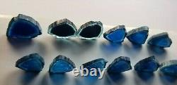 57.90 Ct Well Polished Blue Color Slices from Afghanistan (6 pairs 12 pieces)
