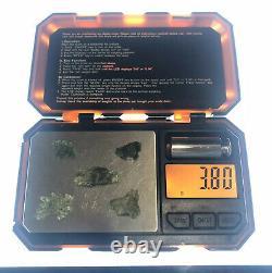 5 Piece Lot Besednice Moldavite Small Crystals 3.80gr/19.00ct Czech Rep