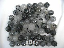 60 Pieces Rare NATURAL Tourmaline quartz crystal sphere ball healing