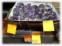 60lbs AMETHYST GEODE PIECES LOT READY FOR RESELL