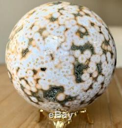 61mm Collectors Ocean Jasper Sphere Piece w Druzy And Hundreds Of Orbs