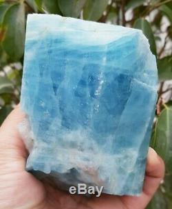 650gm Top Bluish Colour Aquamarine Crystal Rough Piece @ Pakistan