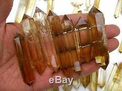 65 Pieces NATURAL Citrine quartz crystal double point healing