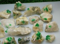 686 Grams Top Quality Emerald Specimen 24 Pieces From@Swat, Pakistan