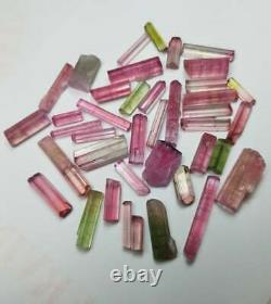 68 Carat 39 Pieces Top Quality Hot Pink Bi Color Tourmaline Crystal Lot