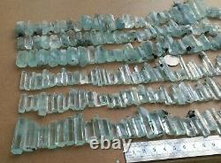 700 Grams Top Aquamarine Terminated Crystal lot 230 Pieces From Shagir, Pakistan