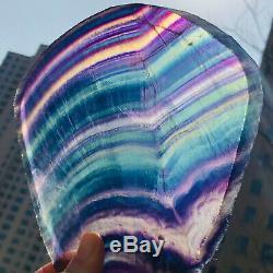 745g Natural Rainbow Fluorite Crystal Quartz Piece Healing Specimen Stone