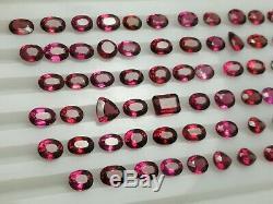 74 Carat Top Color Rhodolite Garnet Facet 86 Pieces From@Africa