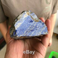 7.84LB Natural lapis lazuli quartz stone place pieces of crystal rod point G708