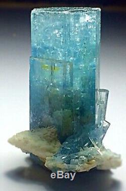 82 Gram Collection piece Aquamarine bunch of Crystals on Feldspar Matrix