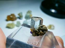 85-Gm Beautiful Baby Aquamarine and Helidor 9 Pieces Crystals From Pakistan