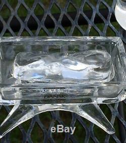 8 Piece Dansk International Full Nativity Set Lead Crystal Mint