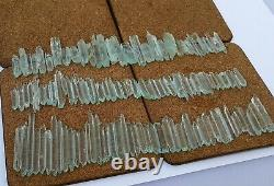 90Gm Top Rare Eteched Aquamarine D/T Terminated Crystal Lot 131 Pieces Shagir, Pk
